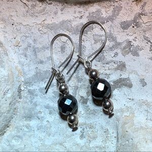Sterling silver and Hematite bead earrings!